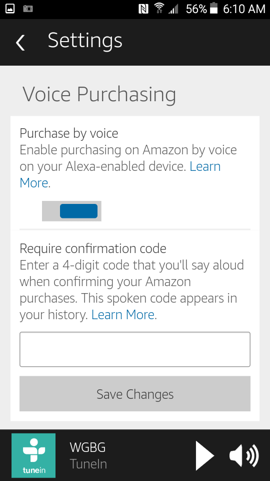 Voice Purchasing on Alexa
