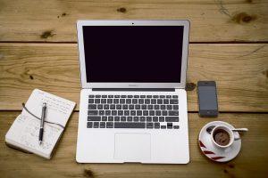Laptop setup for work.  (Courtesy of Free-Photos on Pixabay).