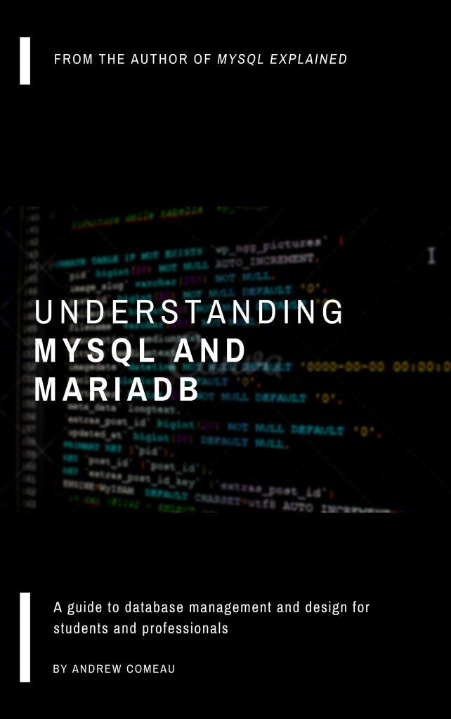 "Tentative cover of my next book - ""Understanding MySQL and MariaDB"""